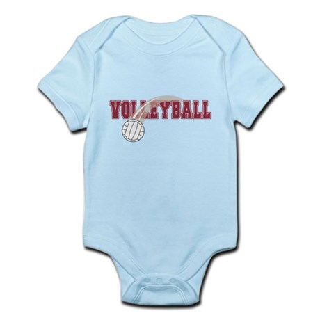 Volleyball Swoosh Graphic (red) Infant Bodysuit