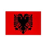 Albanian Rectangle Magnet (100 pack)