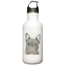 french bulldog drawing Water Bottle