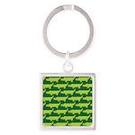 Crocodile Alligator Jungle Square Keychain