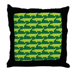 Crocodile Alligator Jungle Throw Pillow