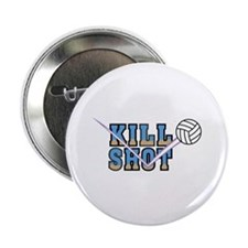 Volleyball Killshot Colorful Graphic Button