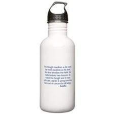 Thought Manifests Water Bottle