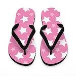 Pink Star Pattern Flip Flops
