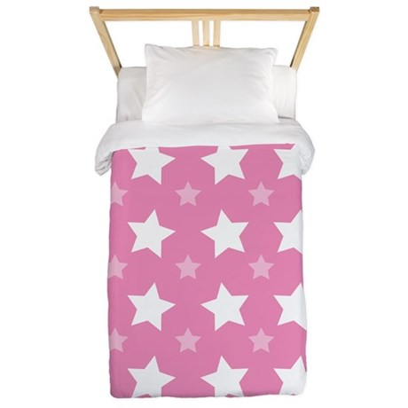 Pink Star Pattern Twin Duvet