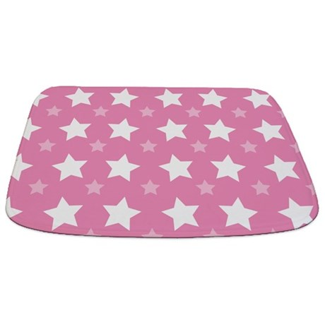Pink Star Pattern Bathmat