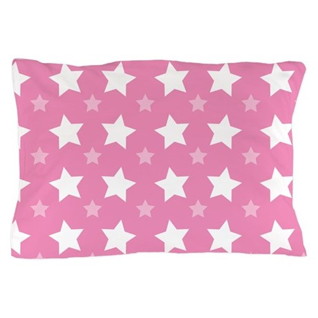 Pink Star Pattern Pillow Case