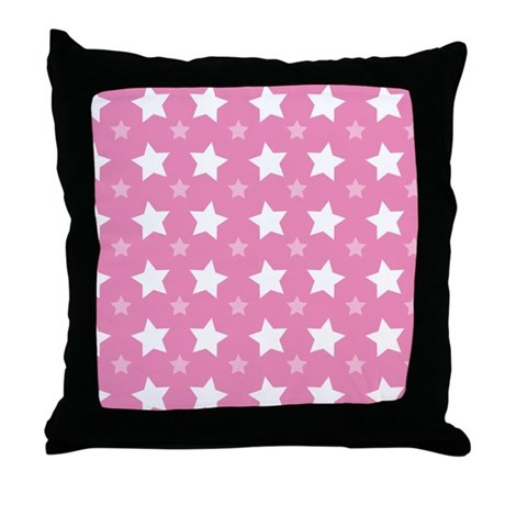 Pink Star Pattern Throw Pillow