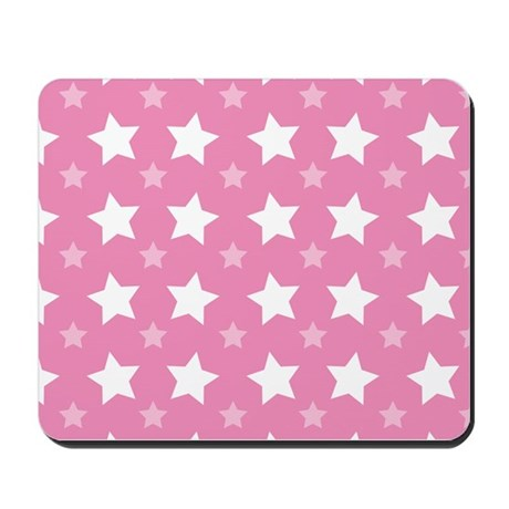Pink Star Pattern Mousepad