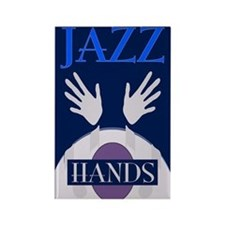 Jazz Hands Rectangle Magnet