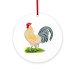 Porcelain Dutch Cock Ornament (Round)