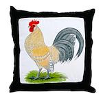 Porcelain Dutch Cock Throw Pillow