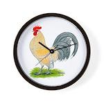 Porcelain Dutch Cock Wall Clock