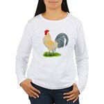 Porcelain Dutch Cock Women's Long Sleeve T-Shirt