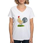 Porcelain Dutch Cock Women's V-Neck T-Shirt