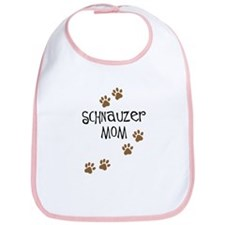 Paw Prints Schnauzer Mom Bib