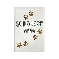 Paw Prints Schnauzer Mom Rectangle Magnet