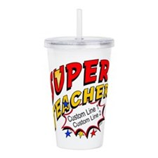 Teacher Super Hero Acrylic Double-Wall Tumbler