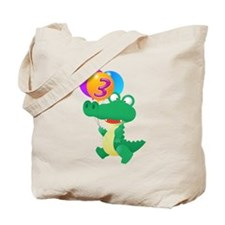 Alligator 3rd Birthday Tote Bag