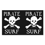 Pirate Surf Argg 2-4-1 Rectangle Sticker