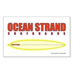 Ocean Strand Surfboards Rectangle Sticker