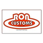 Ron Customs Rectangle Sticker