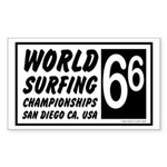 World Surf Championship 66 Rectangle Sticker