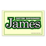 James Custom Surf Rectangle Sticker