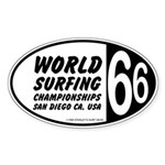 World Surfing Championship 66 Oval Sticker