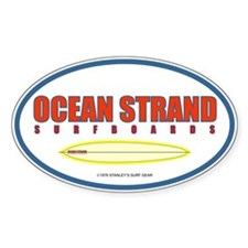 Ocean Strand Surfboards Oval Decal