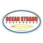 Ocean Strand Surfboards Oval Sticker