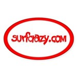 surfcrazy.com Oval Sticker