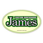 James Custom Surf Oval Sticker