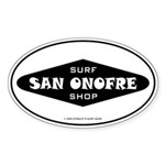 San Onofre Surf Shop Oval Sticker