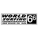 World Surf Championship 66 Bumper Sticker