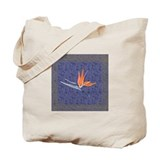 Blue Bird of Paradise Tote Bag