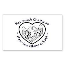 Savannah Chatters Sticker (Rect.)