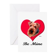 Airedale Valentine Greeting Cards (Pk of 10)