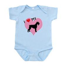I Heart My Schnauzer Infant Bodysuit
