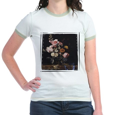 Floral Still Life Jr. Ringer T-Shirt