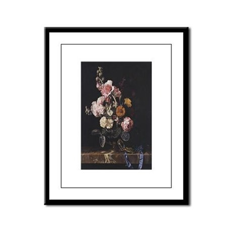 Floral Still Life Framed Panel Print