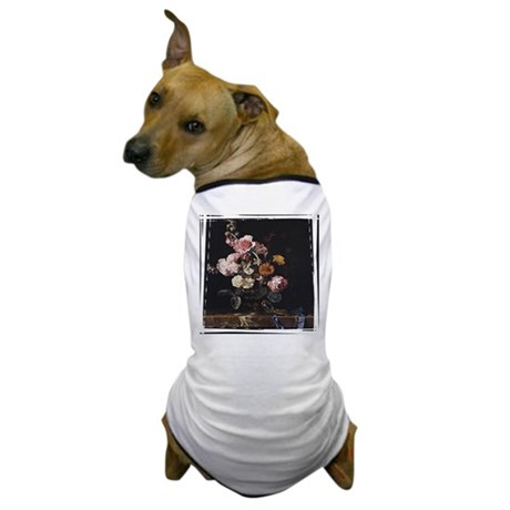 Floral Still Life Dog T-Shirt