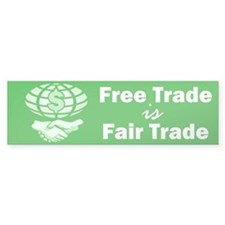 Free Trade Bumper Car Sticker