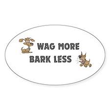 Bark Less Oval Decal