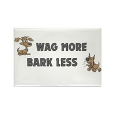 Bark Less Rectangle Magnet