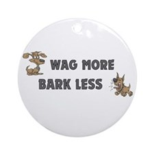 Bark Less Ornament (Round)
