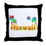 Hawaii Tropics Throw Pillow