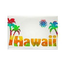 Hawaii Tropics Rectangle Magnet