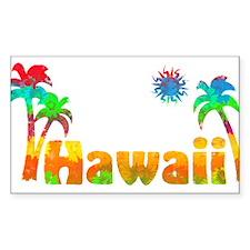 Hawaii Tropics Rectangle Decal