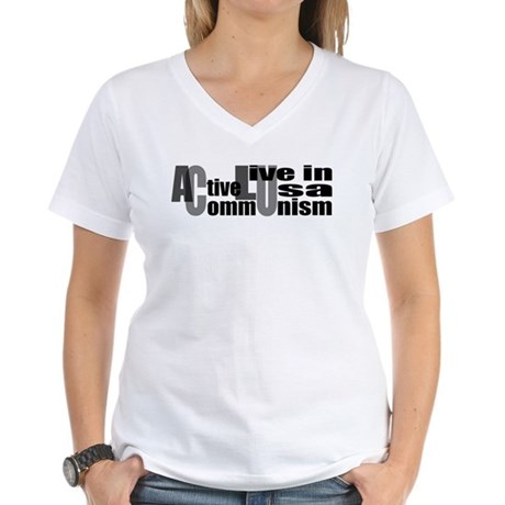 Anti-ACLU Women's V-Neck T-Shirt